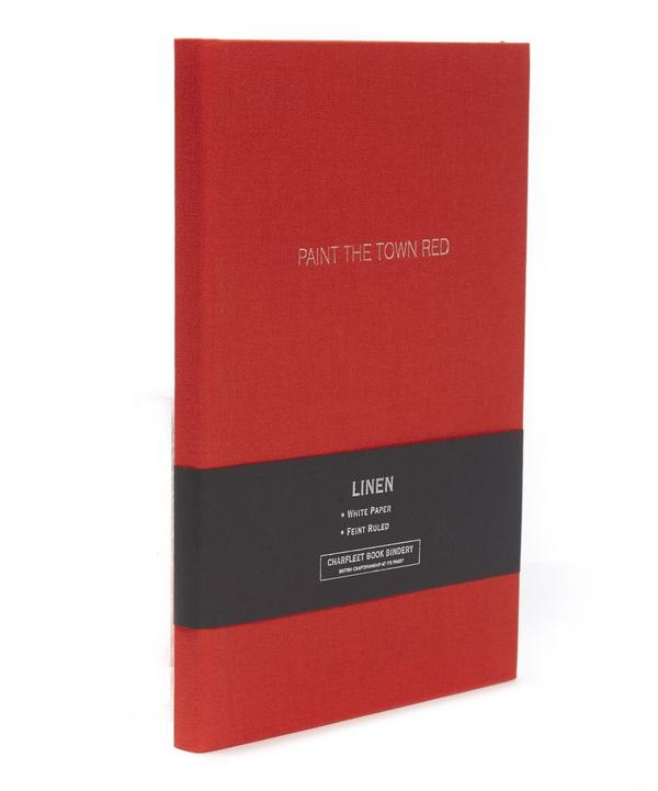 Paint The Town Red Linen Cover Notebook