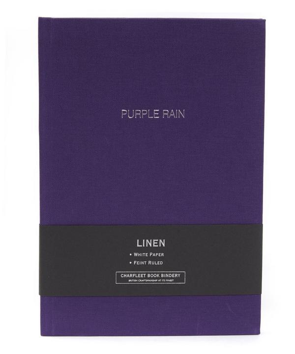 Purple Rain Linen Cover Notebook