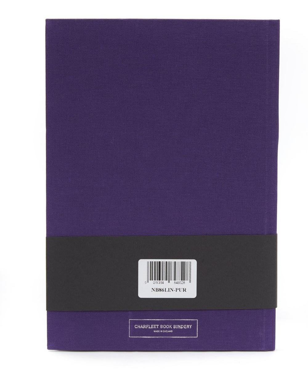 Purple Rain Linen Cover Notebook