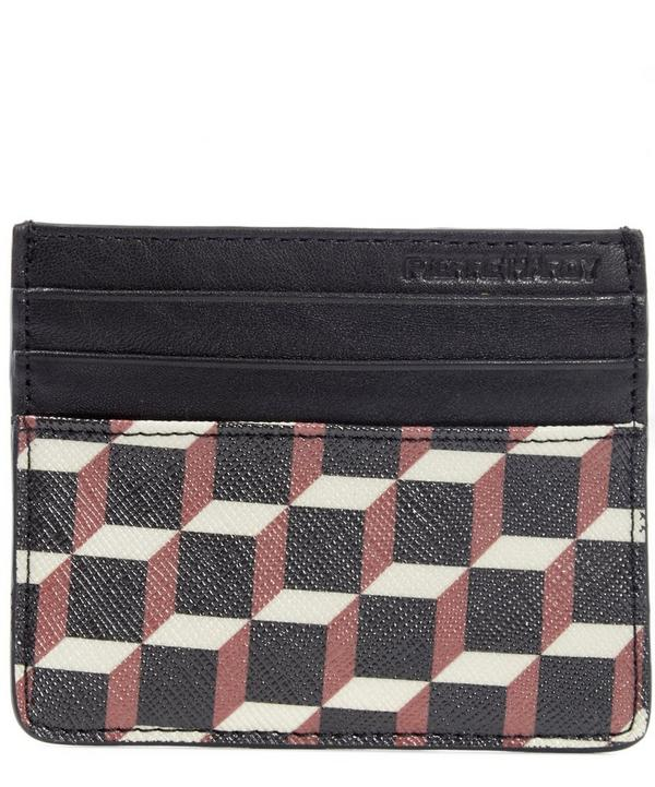 Petite Maroquinerie Cube Printed Canvas Card Case