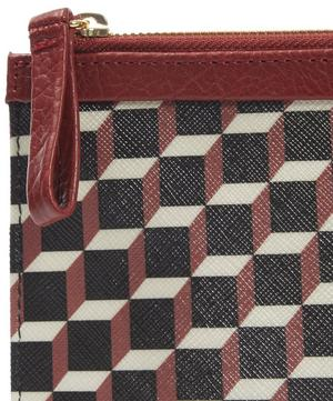 Cube Printed Canvas Pouch