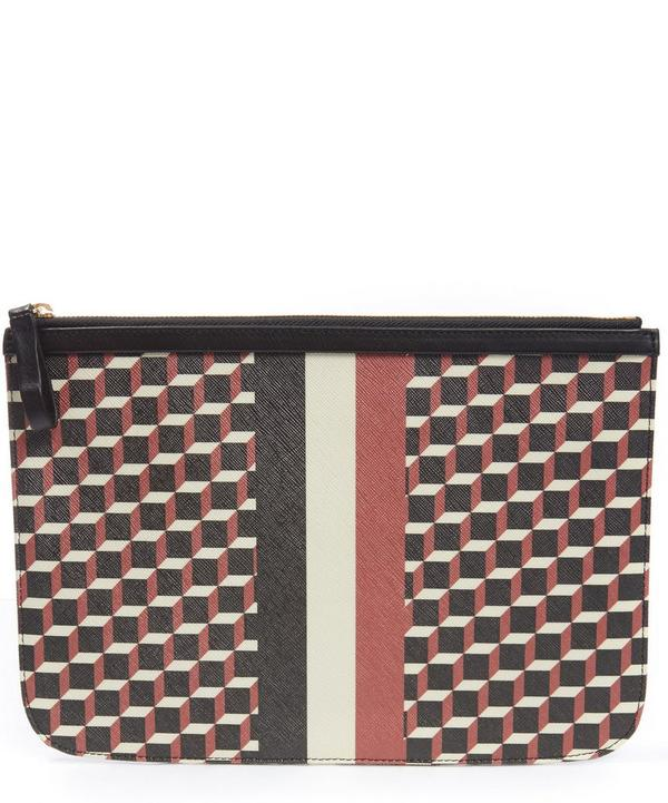 Large Striped Petite Maroquinerie Pouch
