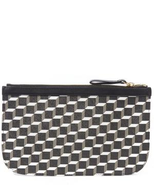 Petite Maroquinerie Cube Printed Large Canvas Pouch