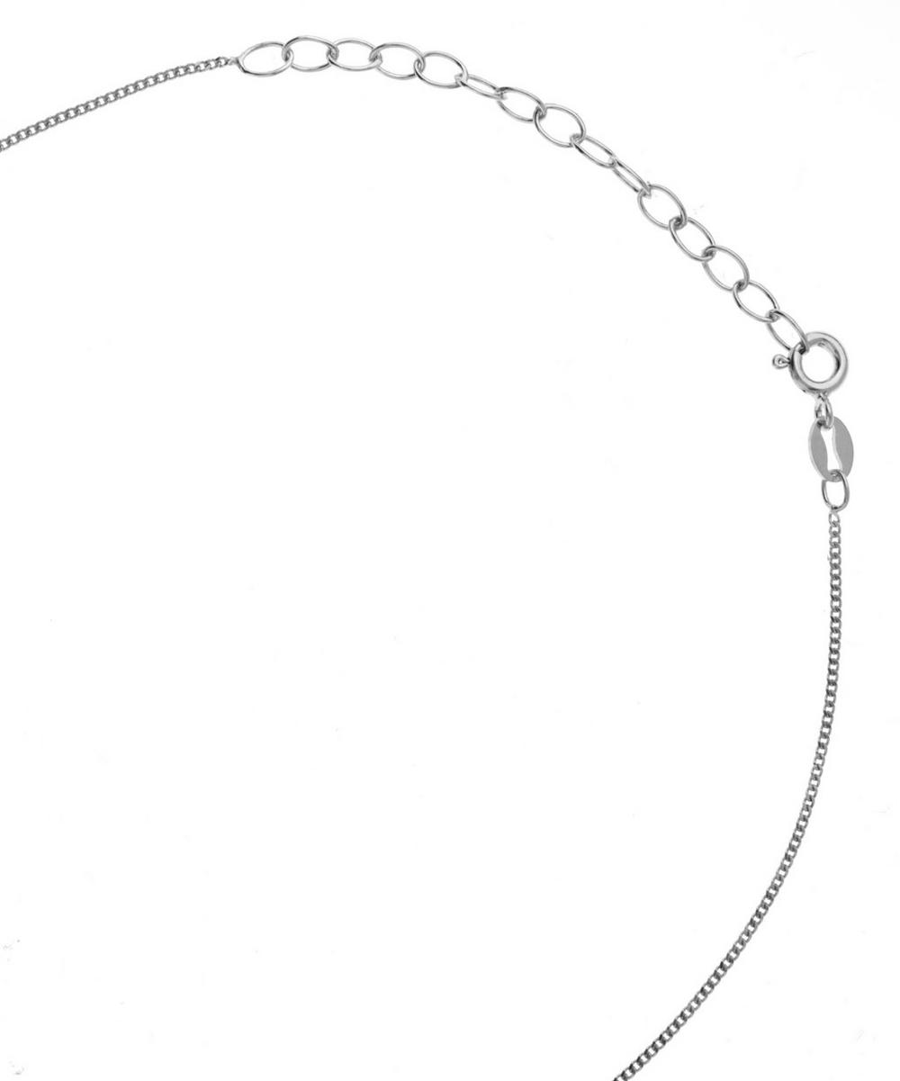 Small Silver Peg Necklace