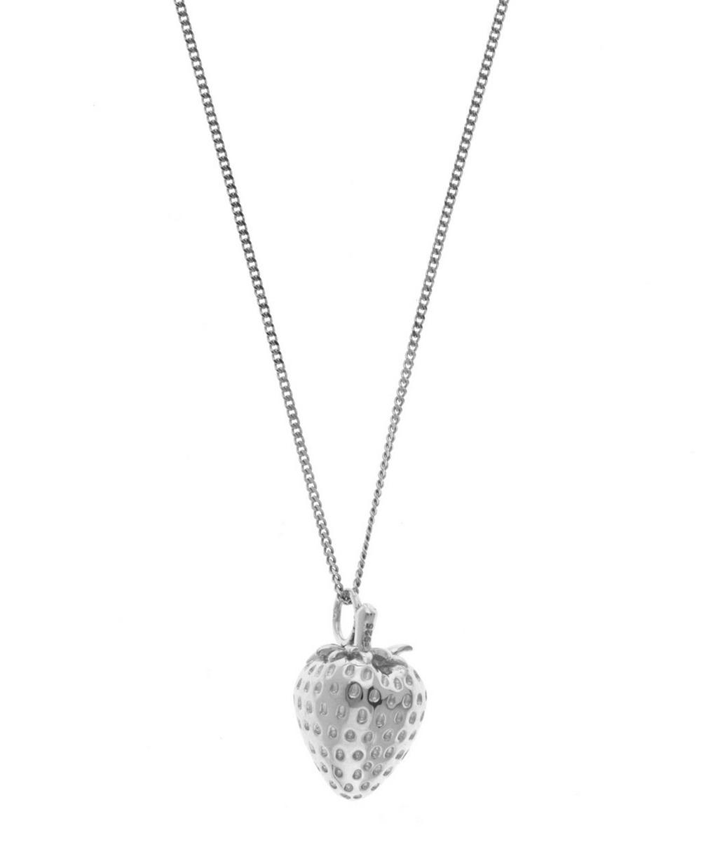 Small Silver Strawberry Necklace