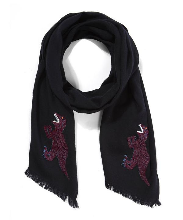Dinosaur Embroidered Scarf