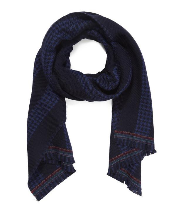 Houndstooth Stripe Scarf