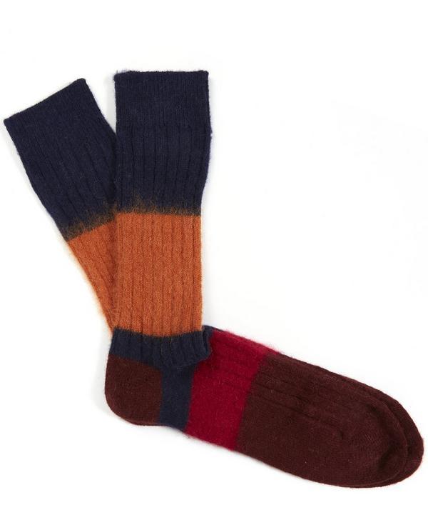 Mohair Block Socks