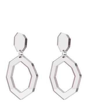 Eurydice Mirror and Resin Earrings