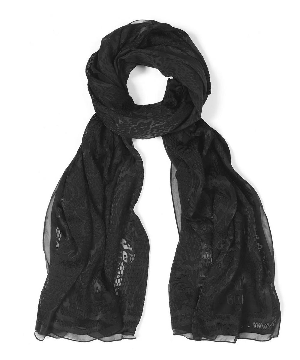 Antigone Devore Satin Lace Scarf