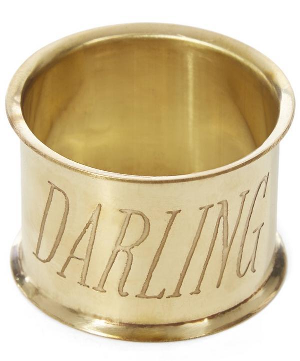 Darling Brass Napkin Ring Set