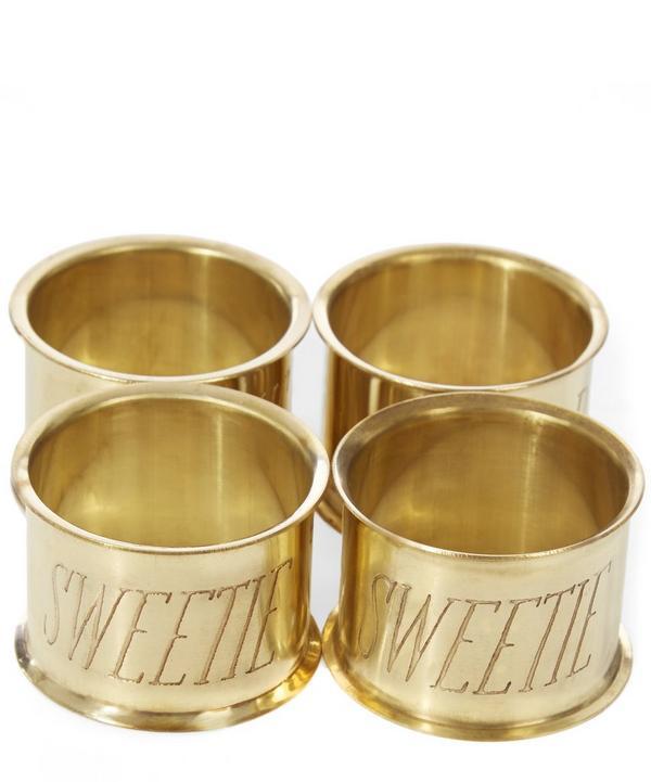 Sweetie Brass Napkin Ring Set