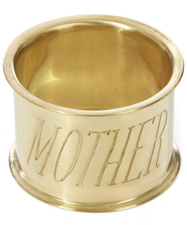Mother Brass Napkin Ring Set