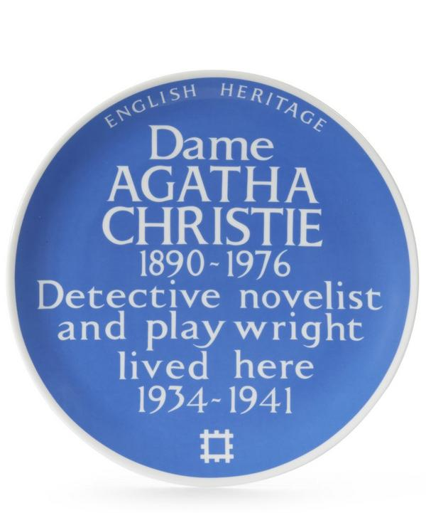 Blue Plaque Agatha Christie Plate