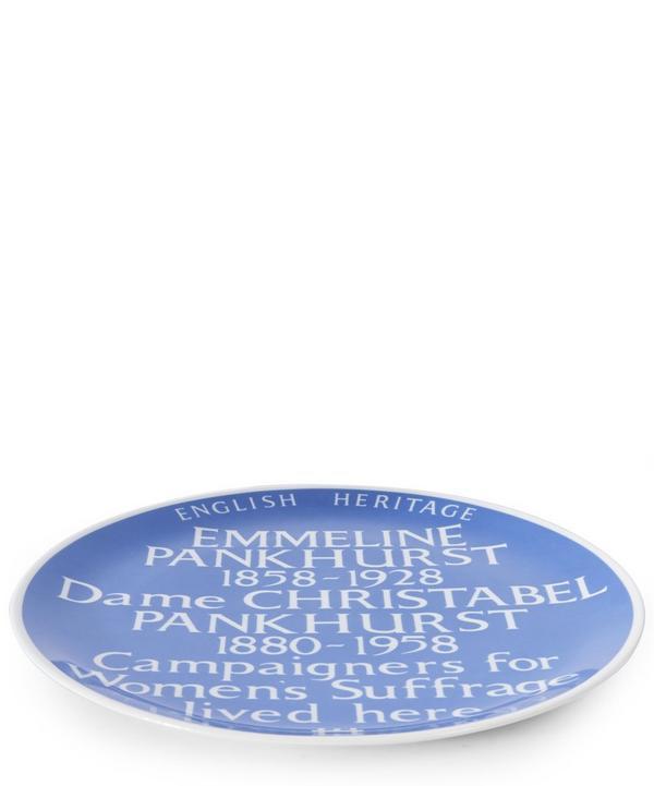 Blue Plaque Emmeline Pankhurst Plate