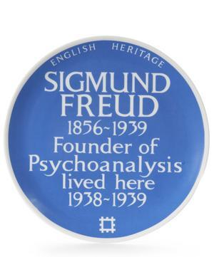 Blue Plaque Sigmund Freud Plate