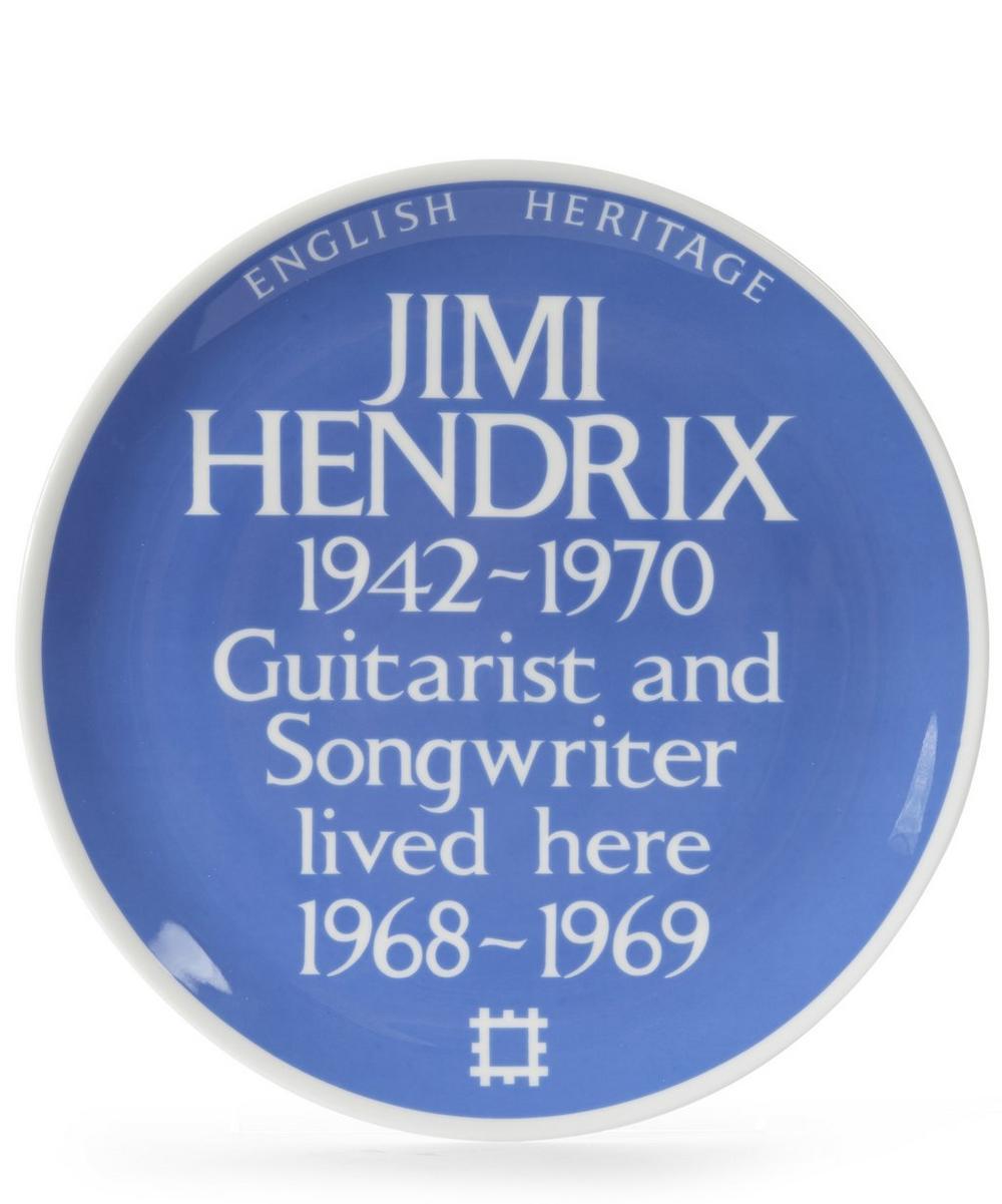 Blue Plaque Jimi Hendrix Plate