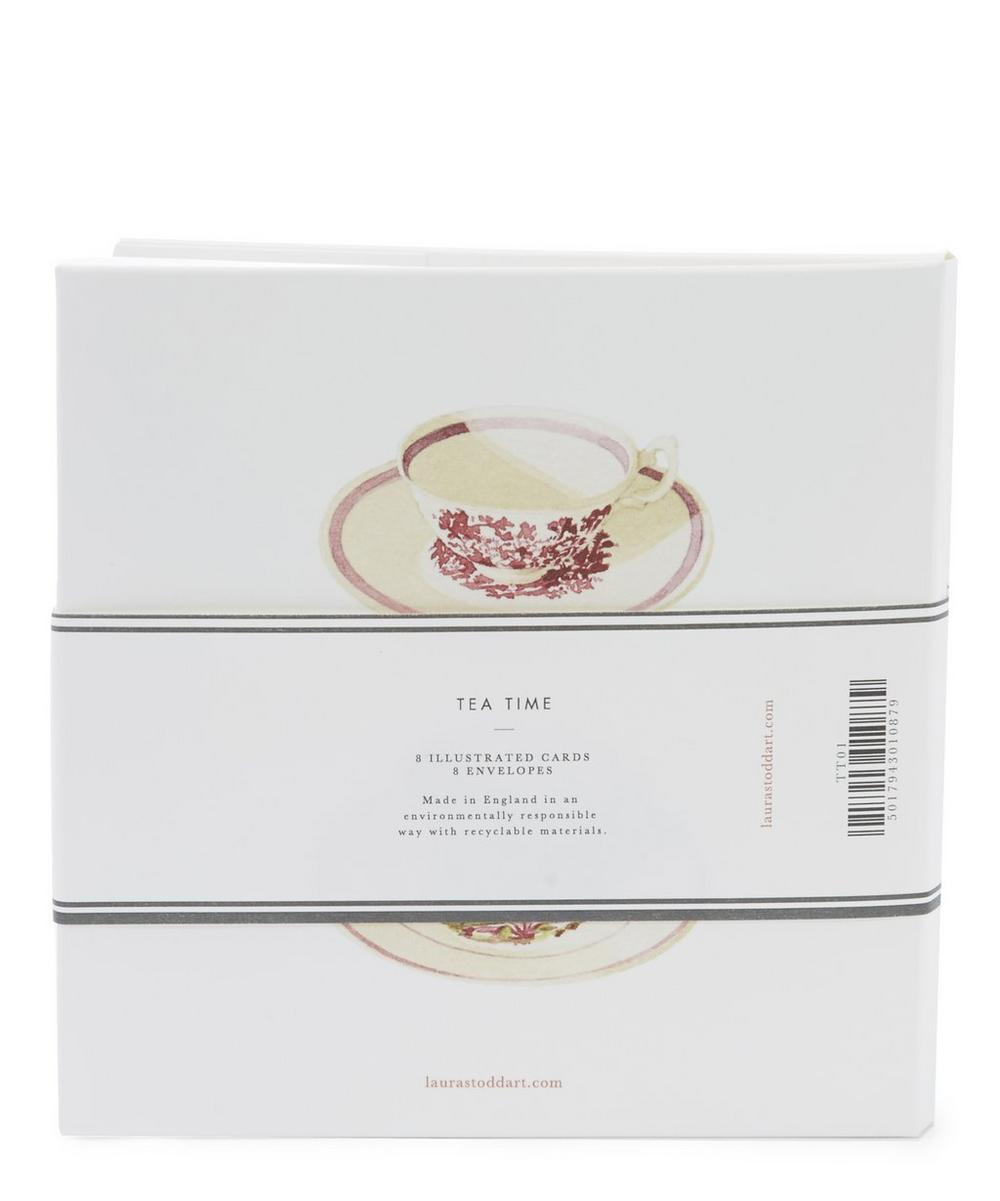 Set of 8 Tea Cup Notecards and Envelopes