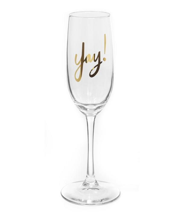 Yay Champagne Glass