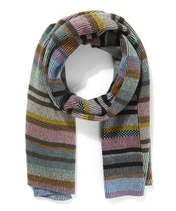 Striped Blanket Float Scarf