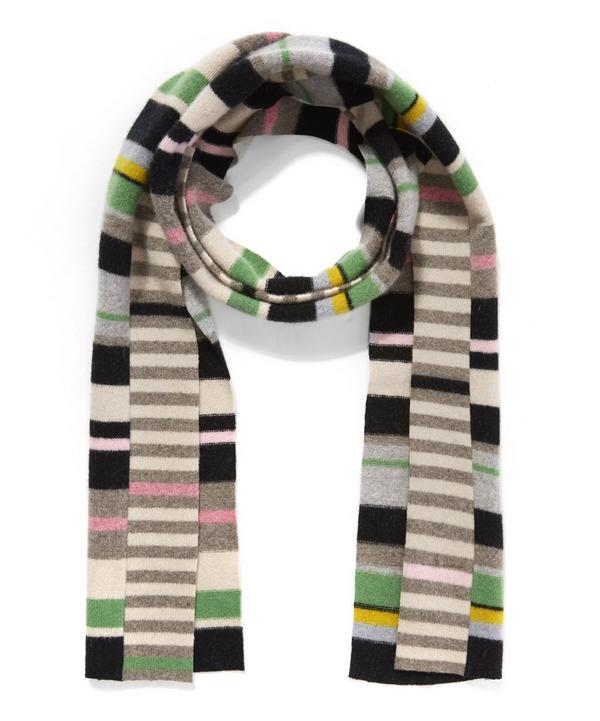 Patchwork Knitted Scarf