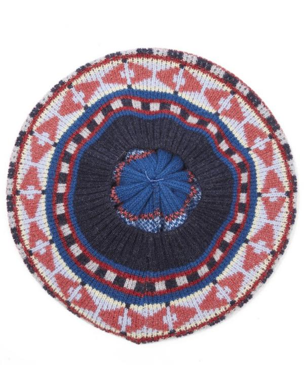 Fairisle Knit Beret Hat