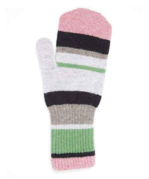 Colourblock Knitted Mittens