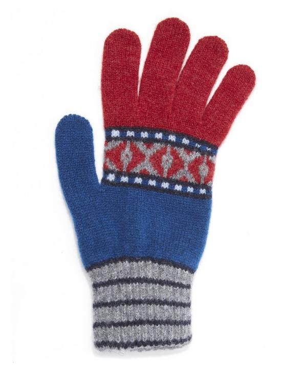 Fairisle Knitted Gloves