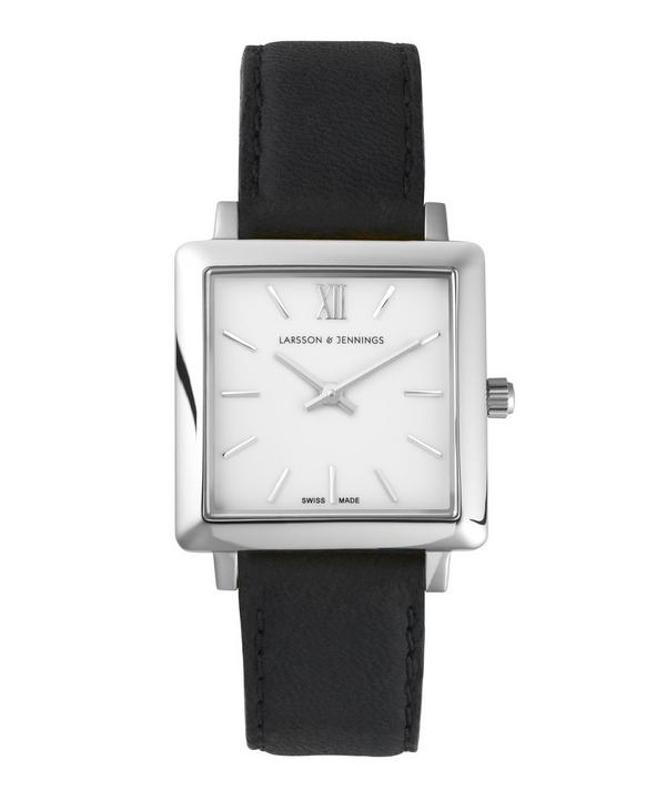 Leather and Stainless Steel Norse Square Watch