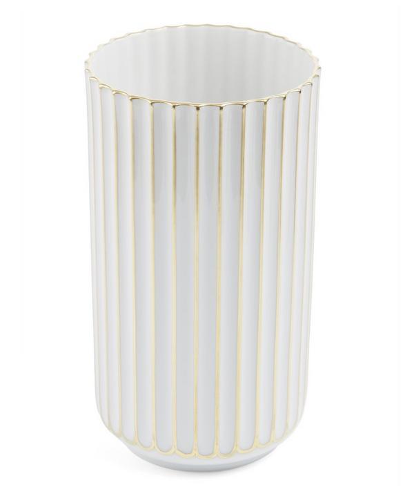 Gold Detail Porcelain 15cm Vase