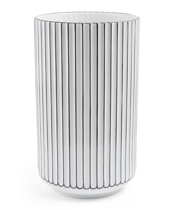 Black Detail Porcelain 25cm Vase