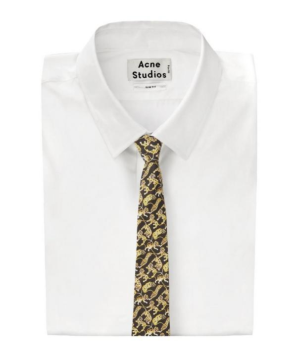 Heads and Tails Lion Print Tana Tie