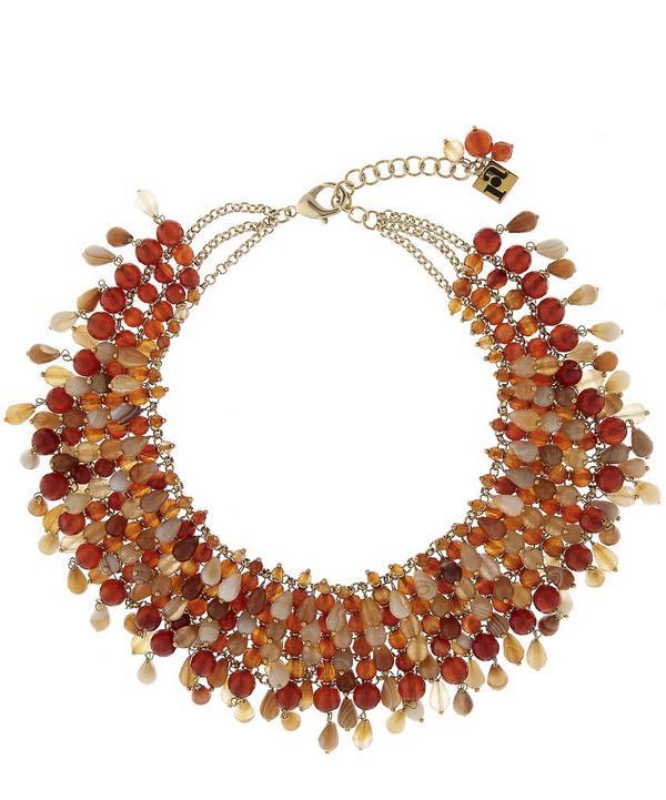 Handmade Rubina Beaded Necklace
