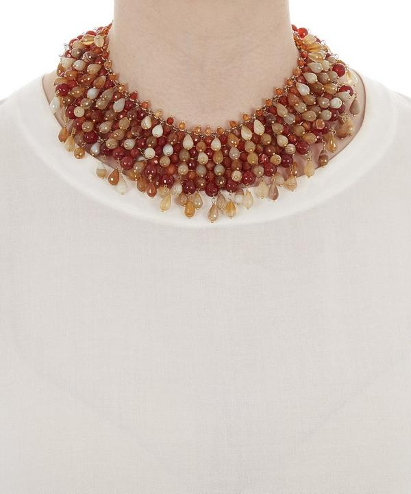 Handmade Rubina Beaded Necklace