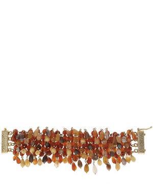Brass Handmade Rubina Beaded Bracelet