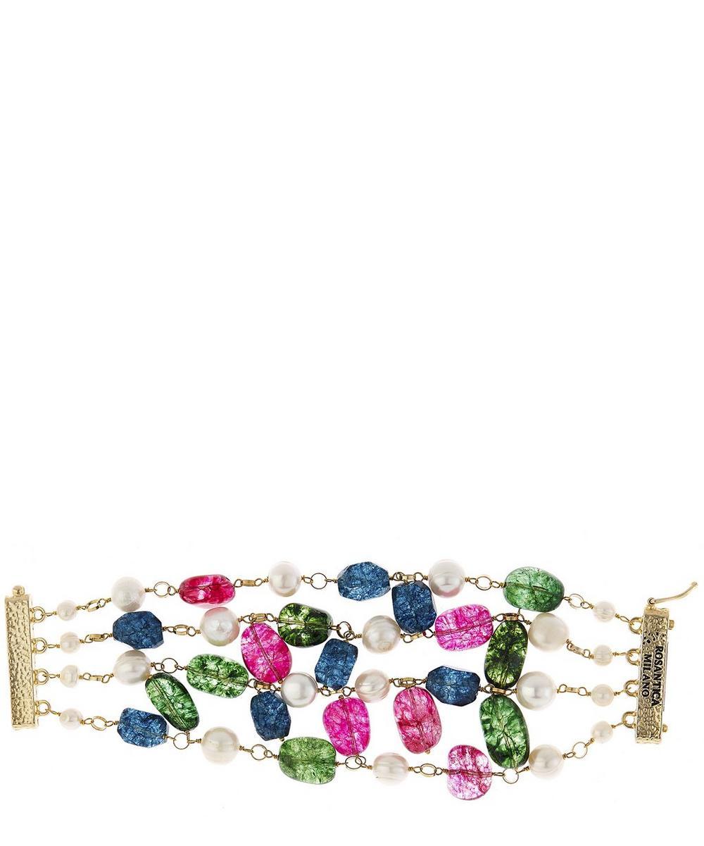 Handmade Kiwi Pearl Bracelet