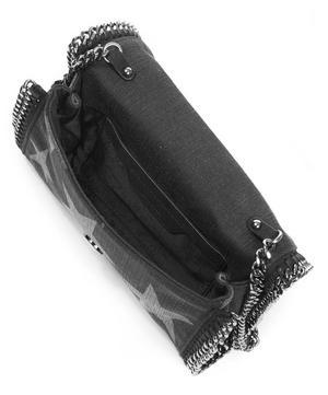 Star Printed Denim Falabella Crossbody Bag