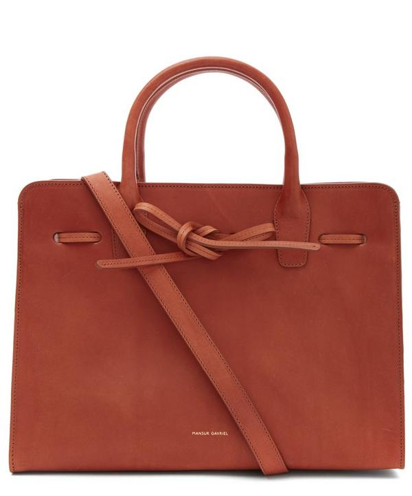 Vegetable Tanned Leather Sun Tote Bag