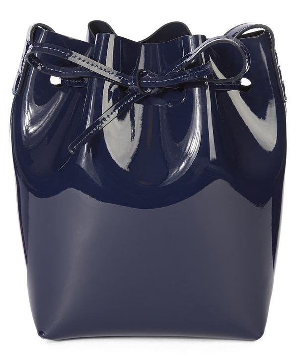 Patent Leather Mini Bucket Bag