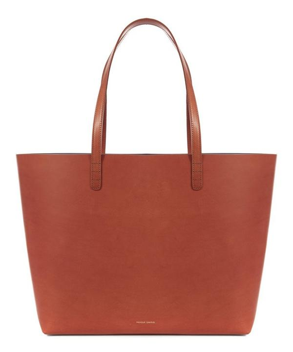 Vegetable Tanned Leather Large Tote Bag