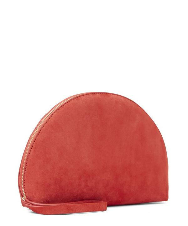 Suede Mini Moon Clutch