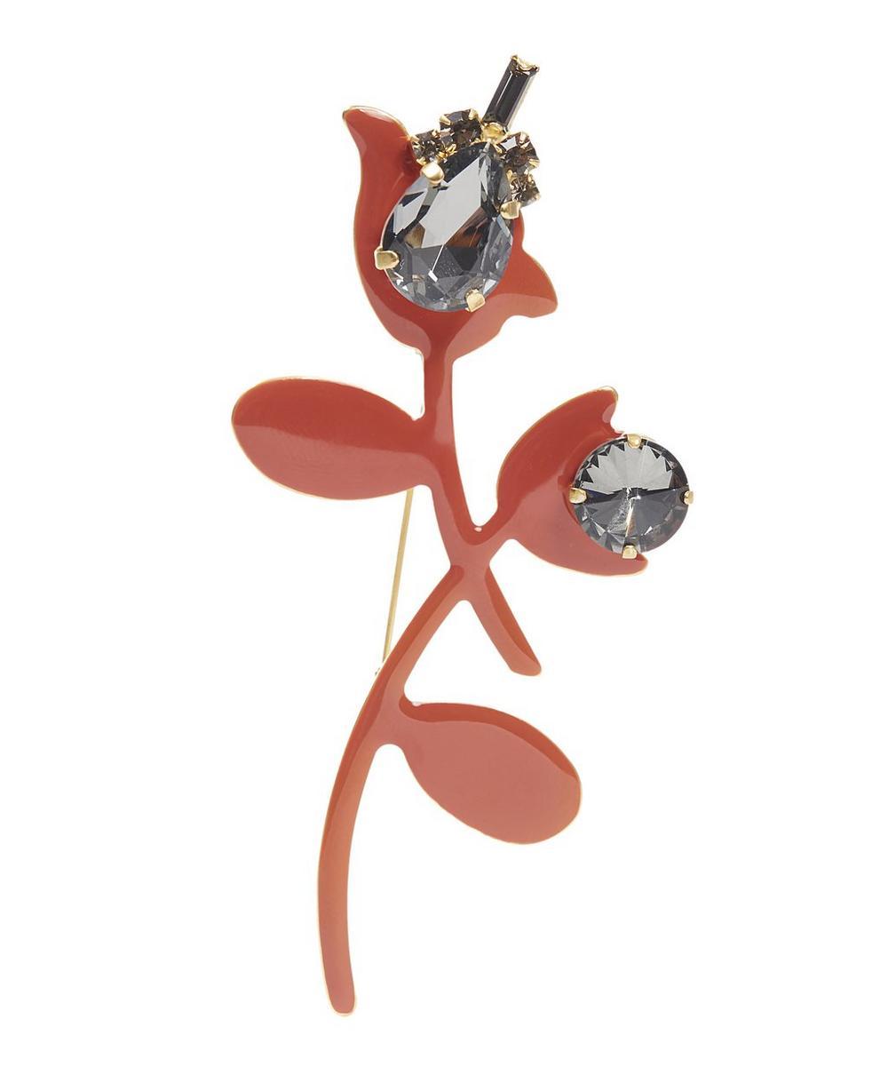Strass Flower Brooch
