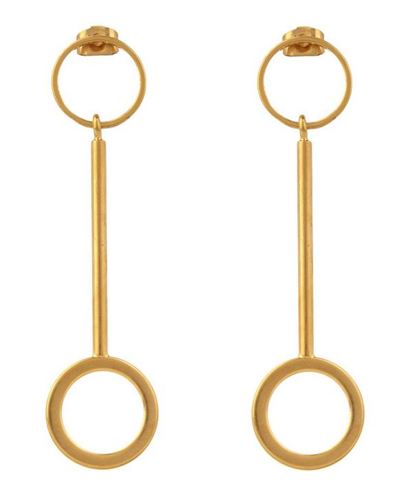 Circular Drop Earrings