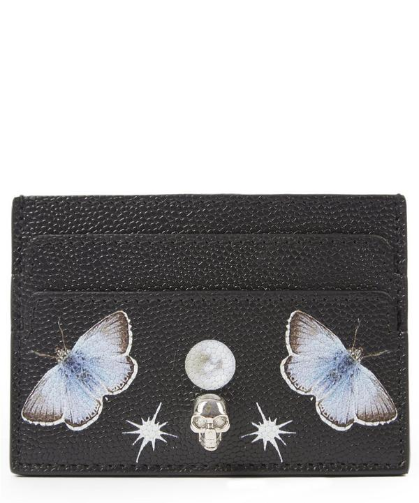 Leather Nocturnal Print Cardholder