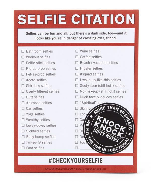 Selfie Citation Pad