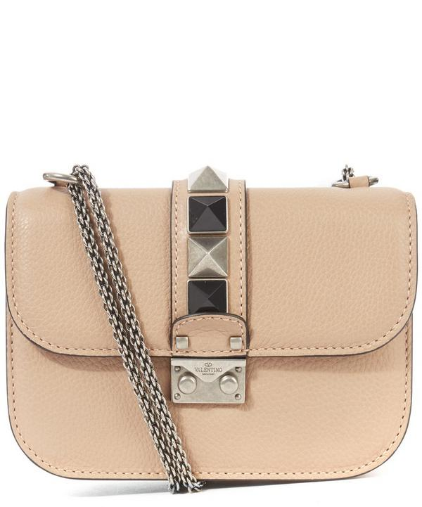 Leather Lock Medium Shoulder Bag