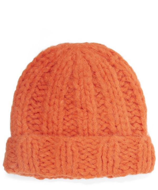 Jewel H Alpaca Knitted Beanie Hat