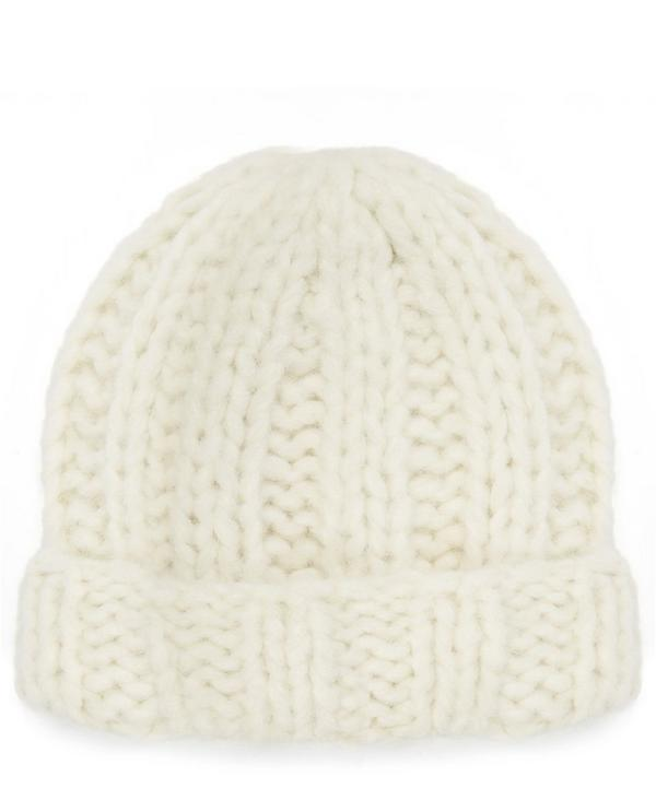 Jewel H Alpaca Knitted Beanie Hat