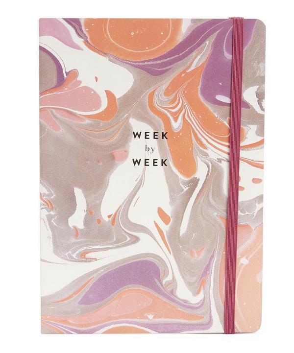 Gilded Marble Week By Week Planner