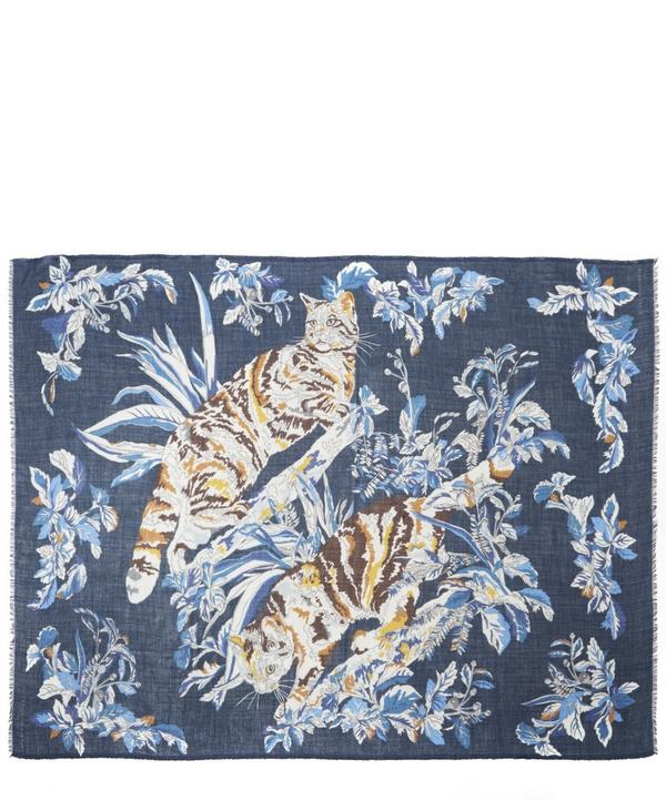 Cat Floral Scarf